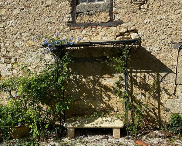 29 - bench against barn wall