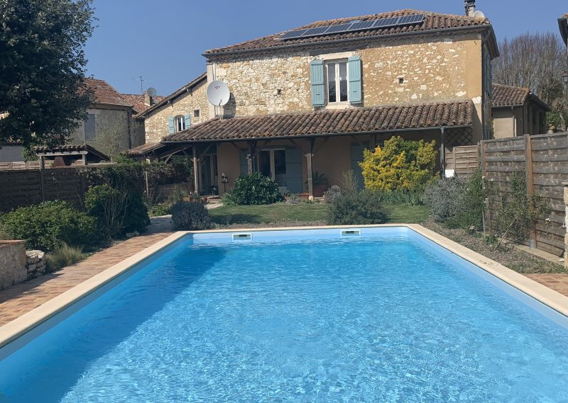 Village Stone House with Pool