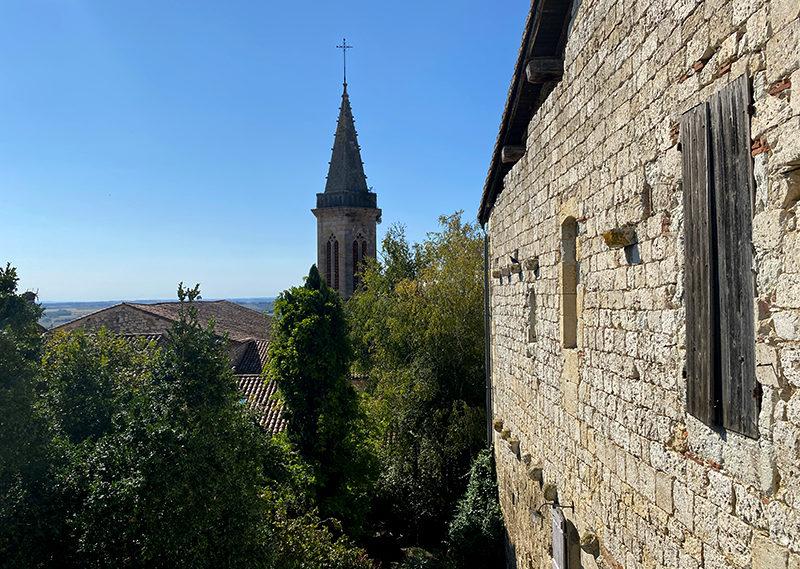 Panorama sur Lectoure et le Gers depuis le toit terrasse